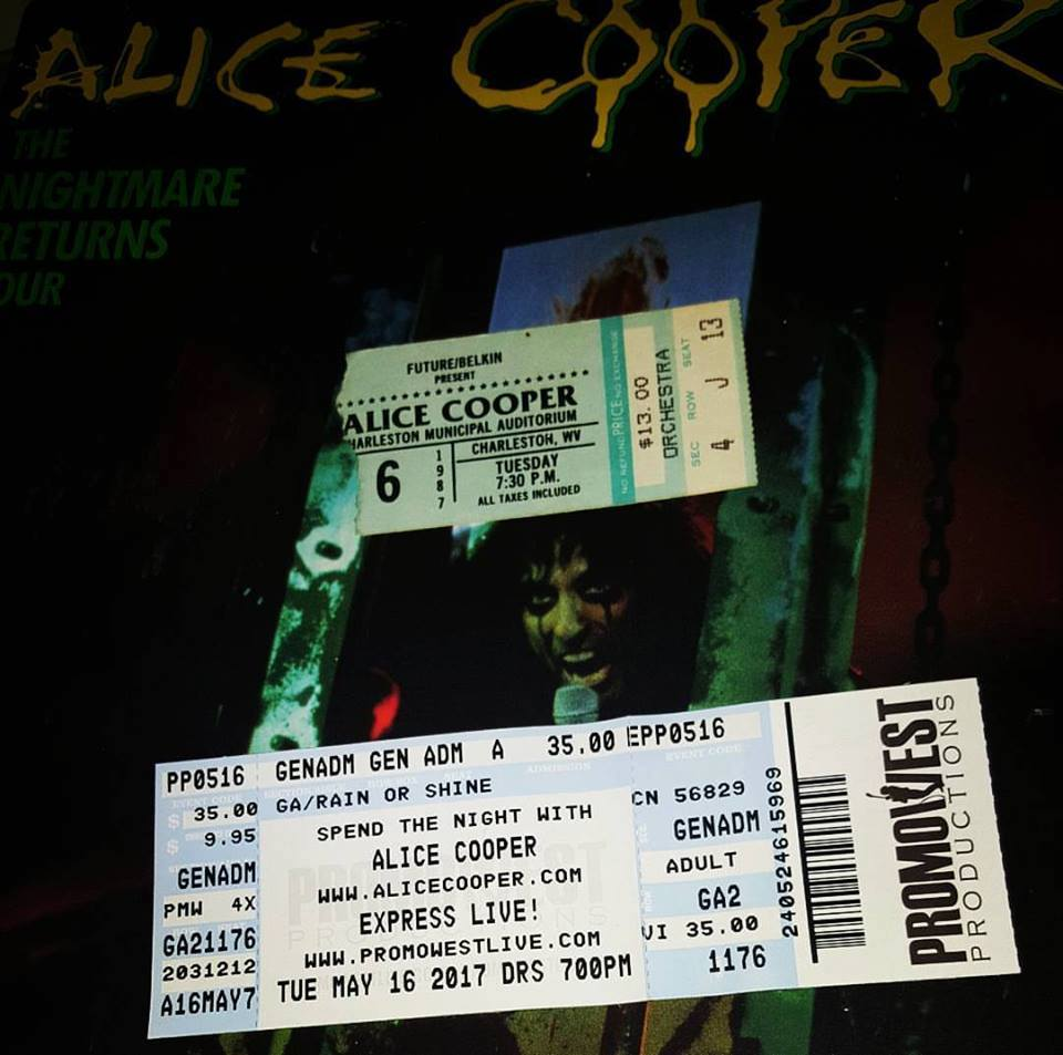 Thirty years of seeing Alice Cooper 1987 - 2017.