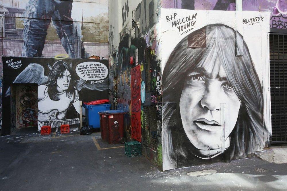 Malcolm Young tribute in Melbourne Australia