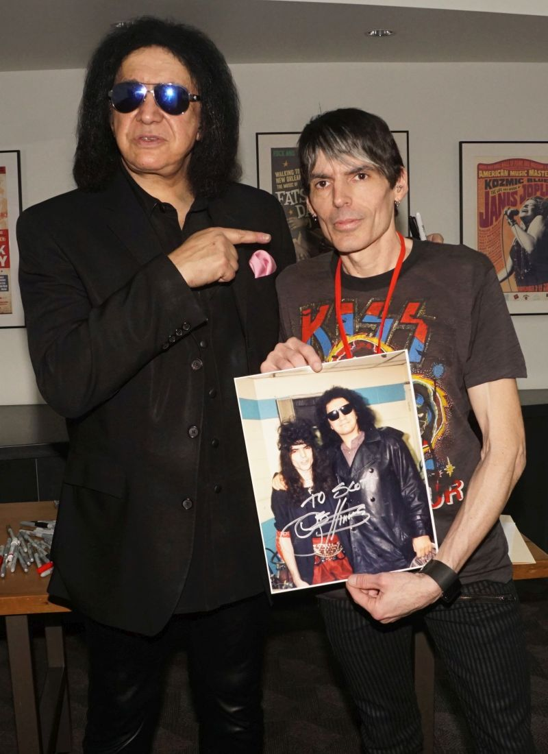 Gene and myself. I'm holding a pic we'd taken together 30 years ago.