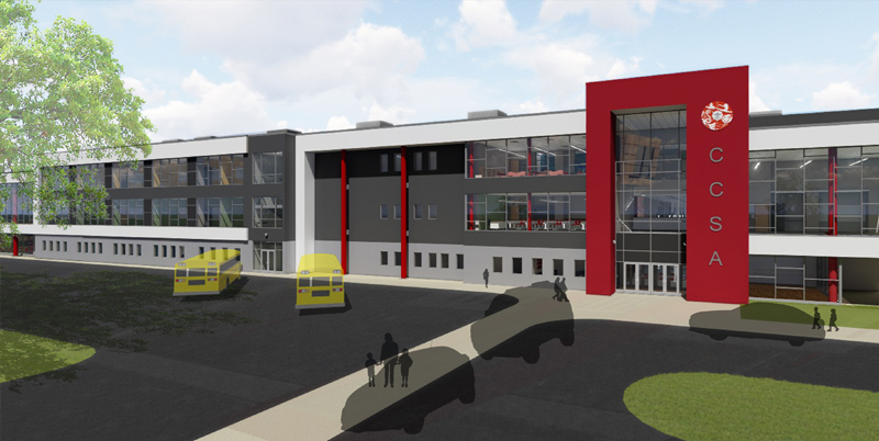 Rendering of the new K - 12 campus