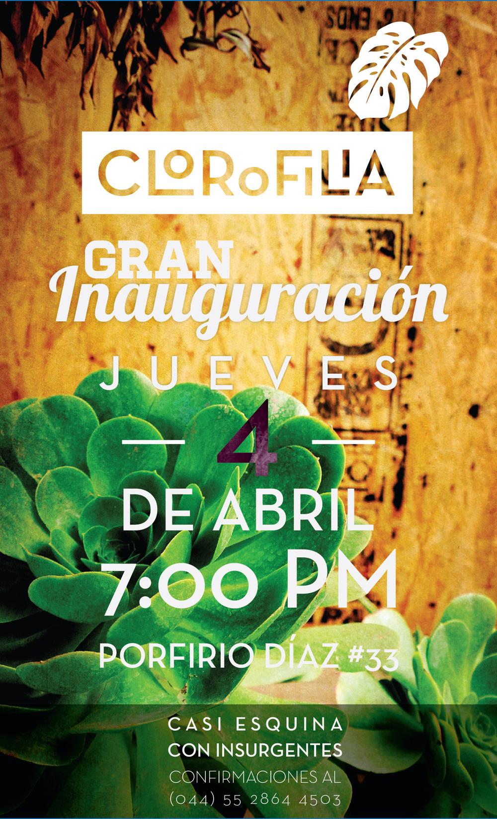 invitacion inauguracion clorofilia