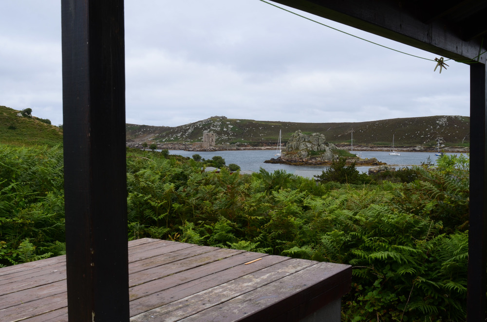 Bryher campsite, taken from the washing up department.