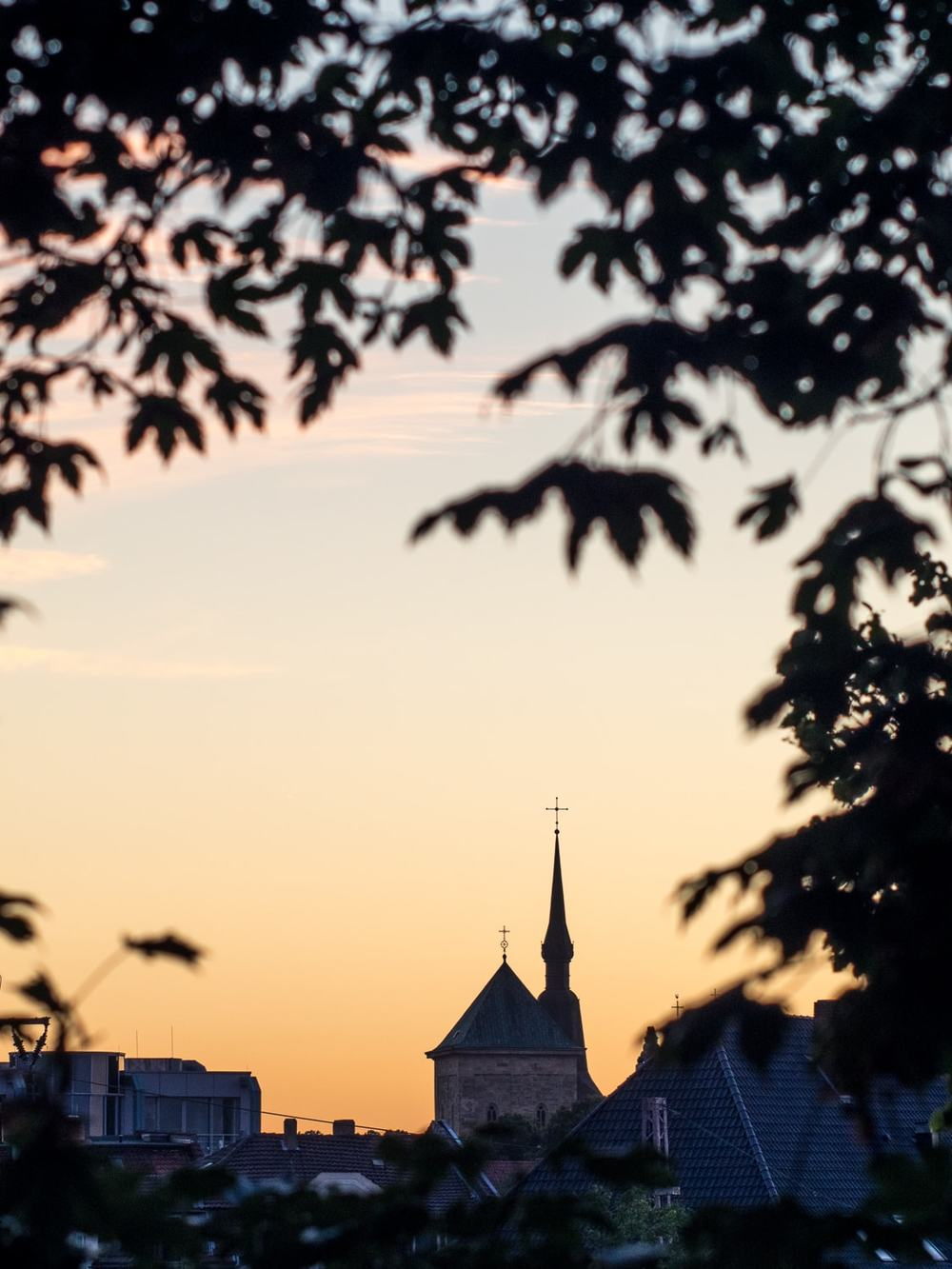 Osnabrück, Osnabrueck, Dom, Sonnenuntergang, Licht, Leica, Himmel, Gelb, Orange, Stadt, Deutschland, Geschichte, Kultur