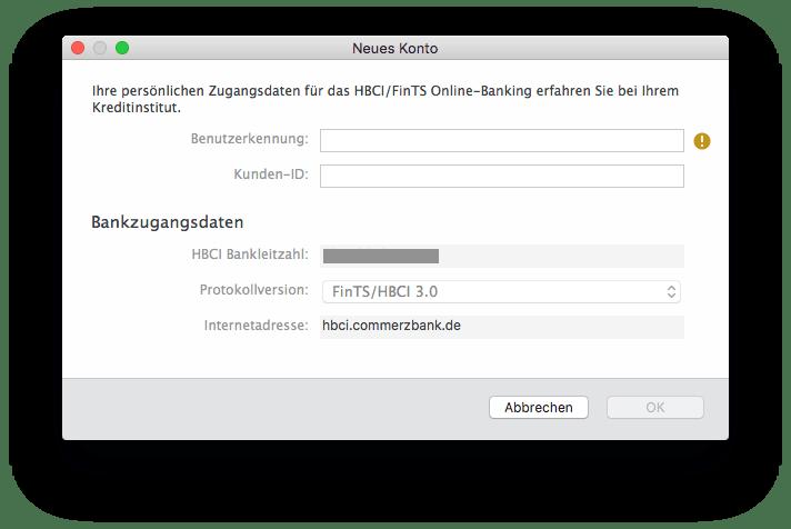 Banking 4 HBCI Benutzerkennung Kunden-ID