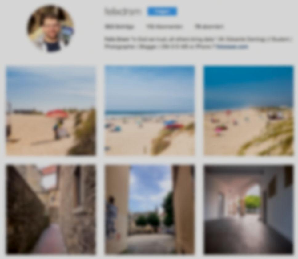 Instagram - Es geht das Gerücht um, dass Instagram sein Dreierreihen Layout ändern wird. Bei dem steigenden Anteil an großen Bildschirmen scheint mir das plausibel. Allerdings habe ich nun schon einige Arbeit in meinem Stream gesteckt und die möchte ich mir nicht kaputt machen lassen.