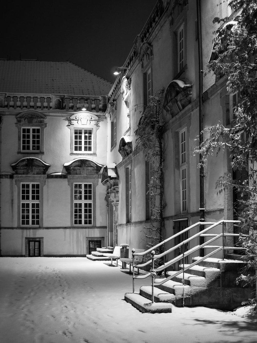 Osnabrücker Schloss im Schnee