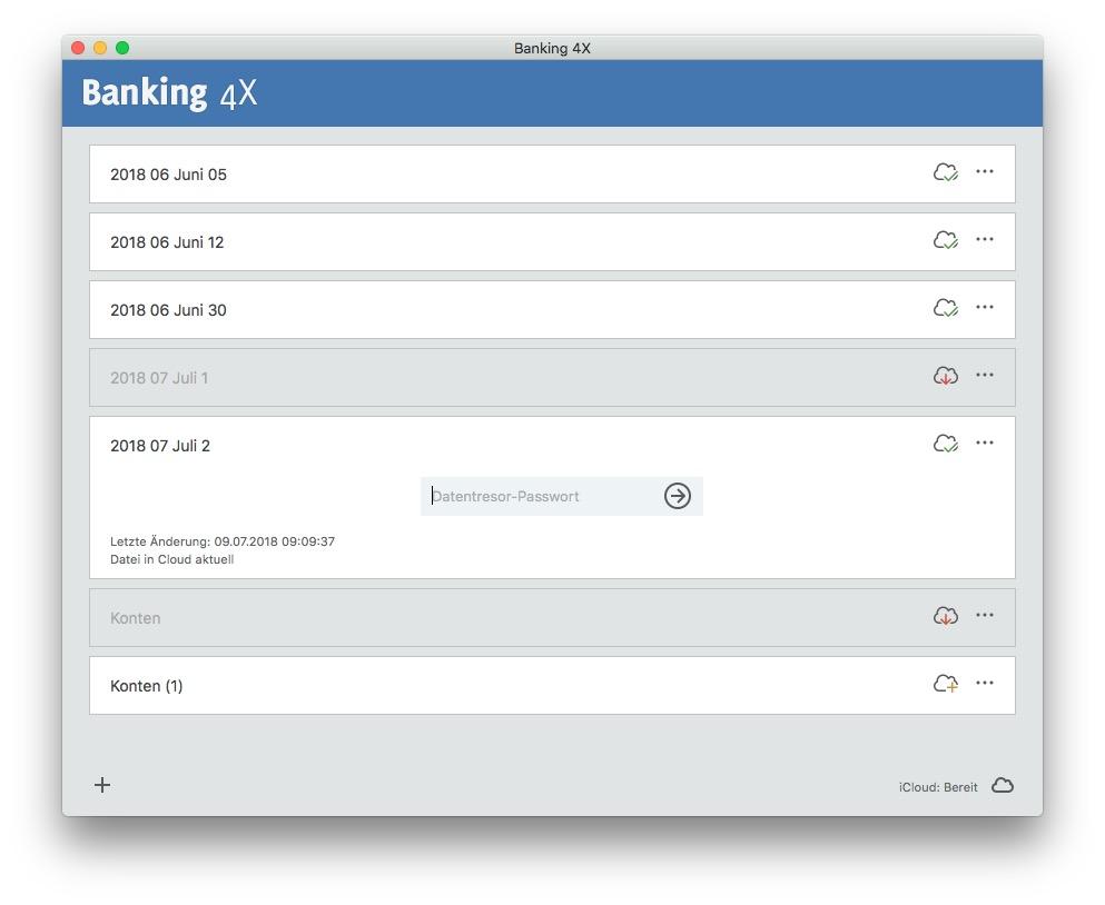 Banking 4x, 4i und doppelte Datentresore Lösung