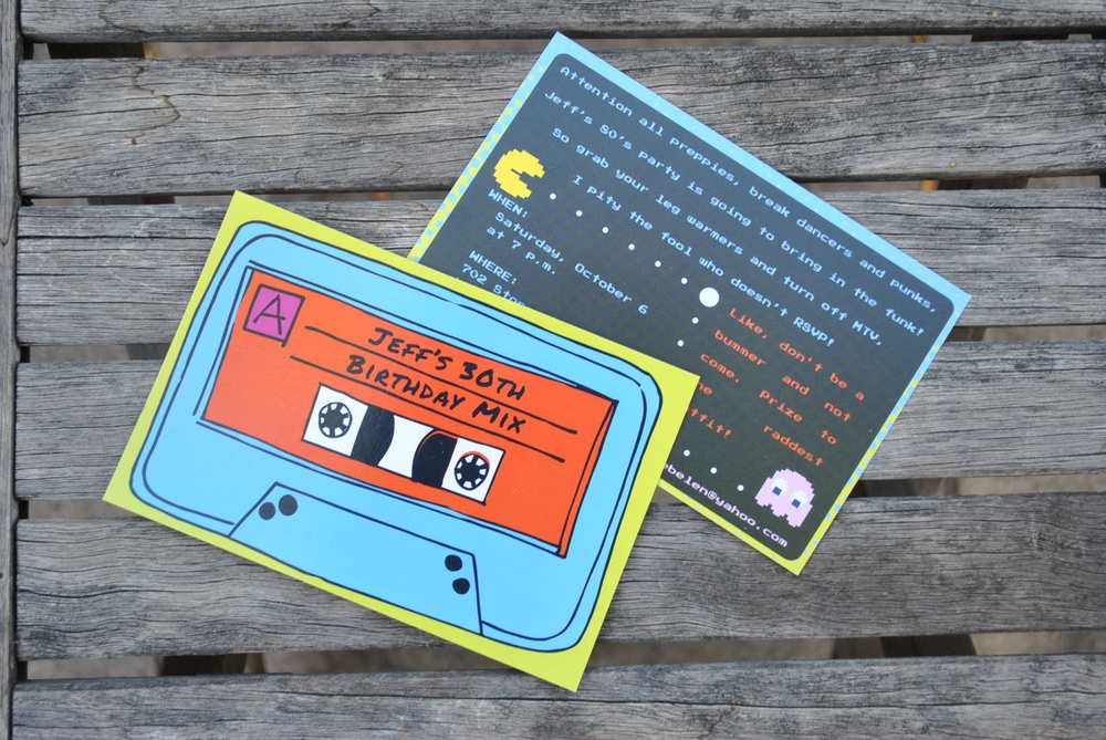 80's Themed Birthday Invitation