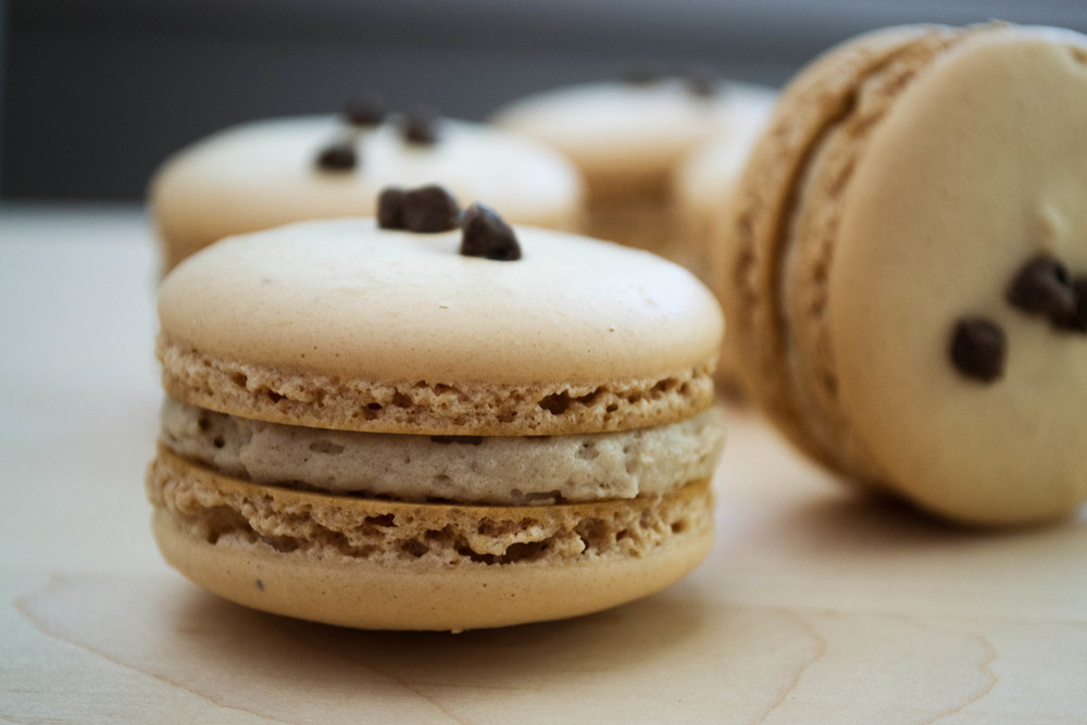 Almond Cookie Dough Macaron 3