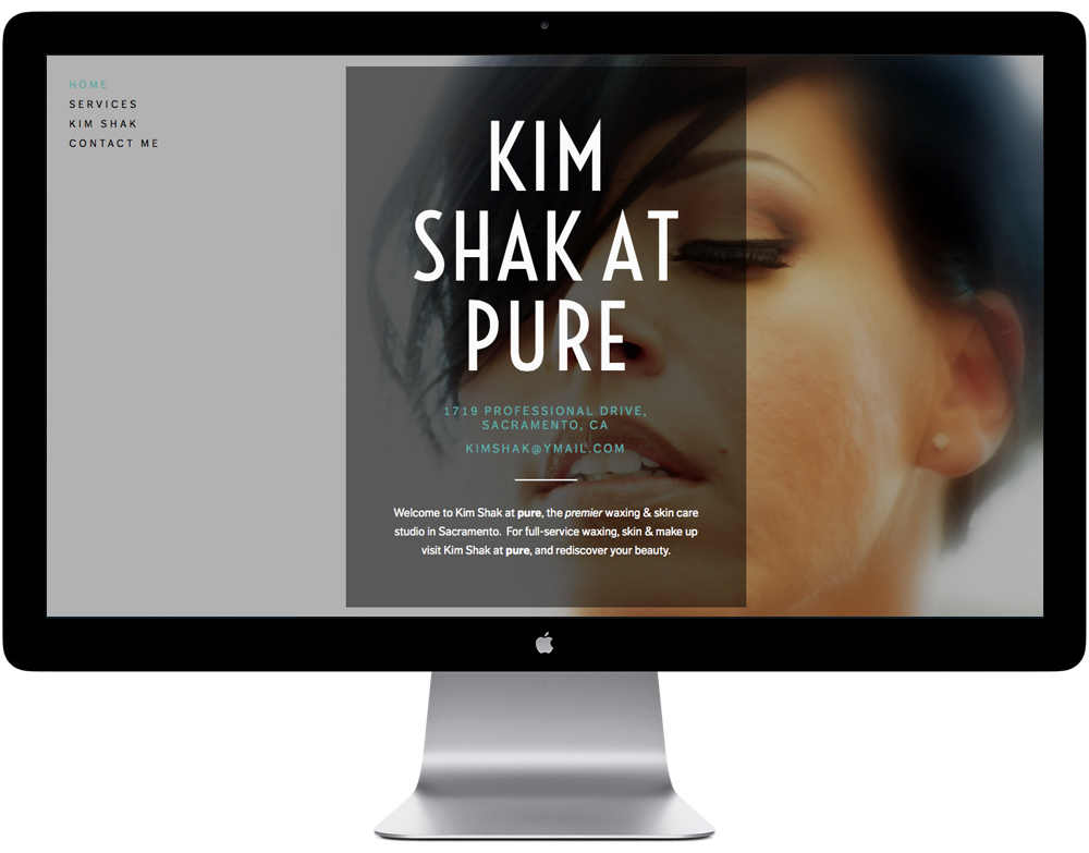 Kim Shak // Rebrand // Website