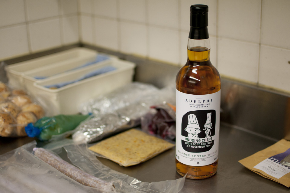 Budding Chefs whisky courtesy of our partner Adelphi Distillery