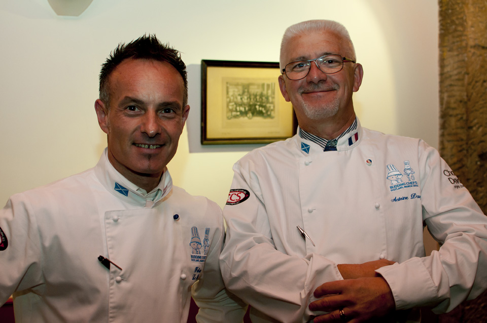 Fabrice Le Bret and Antoine Davy, cooking tutors at the Lycée hôtelier de Dinard
