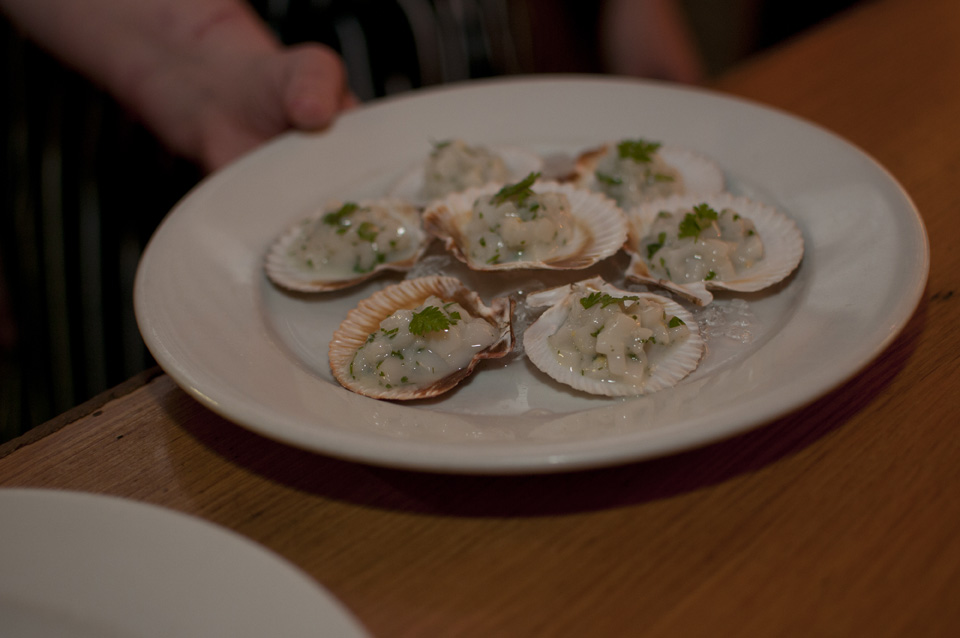 Scottish gastronomy showcase – Tartare of Scallop on Ice
