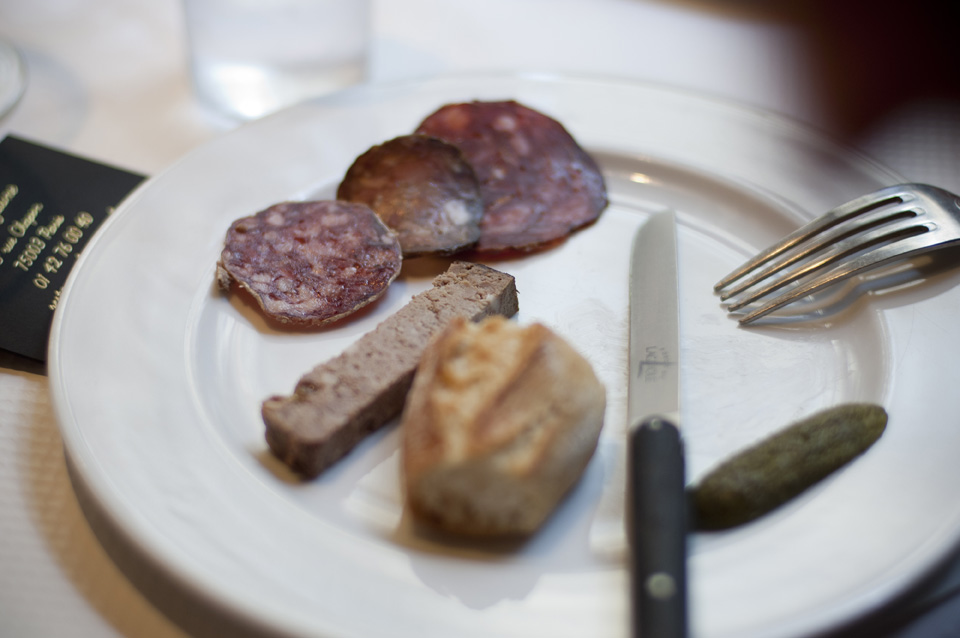 Horse meat tasting by Otis Lebert – selection of charcuterie