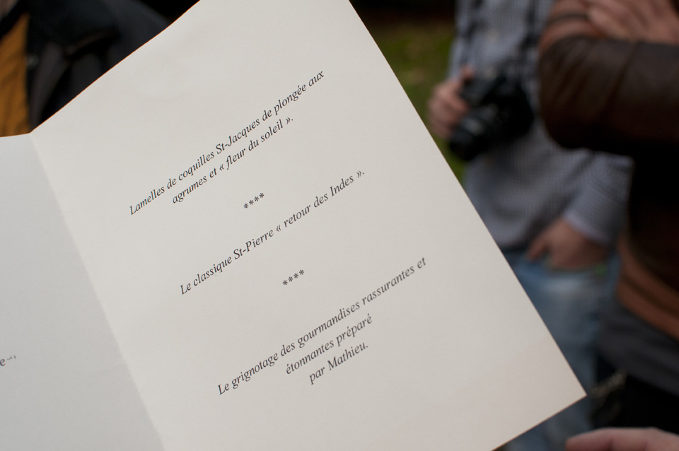 Tasting menu at Le Coquillage by Olivier Roellinger
