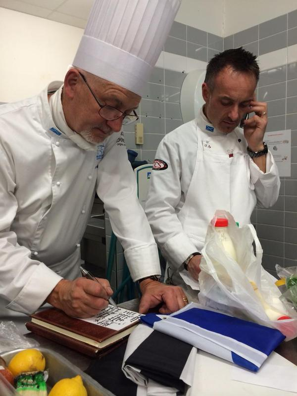 Cooking tutors Antoine Davy and Fabrice Le Bret