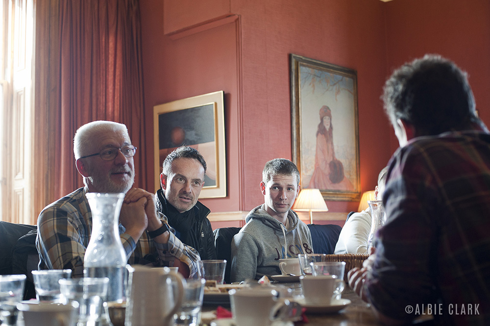 Lunch at Glengorm castle after the tour of the estate