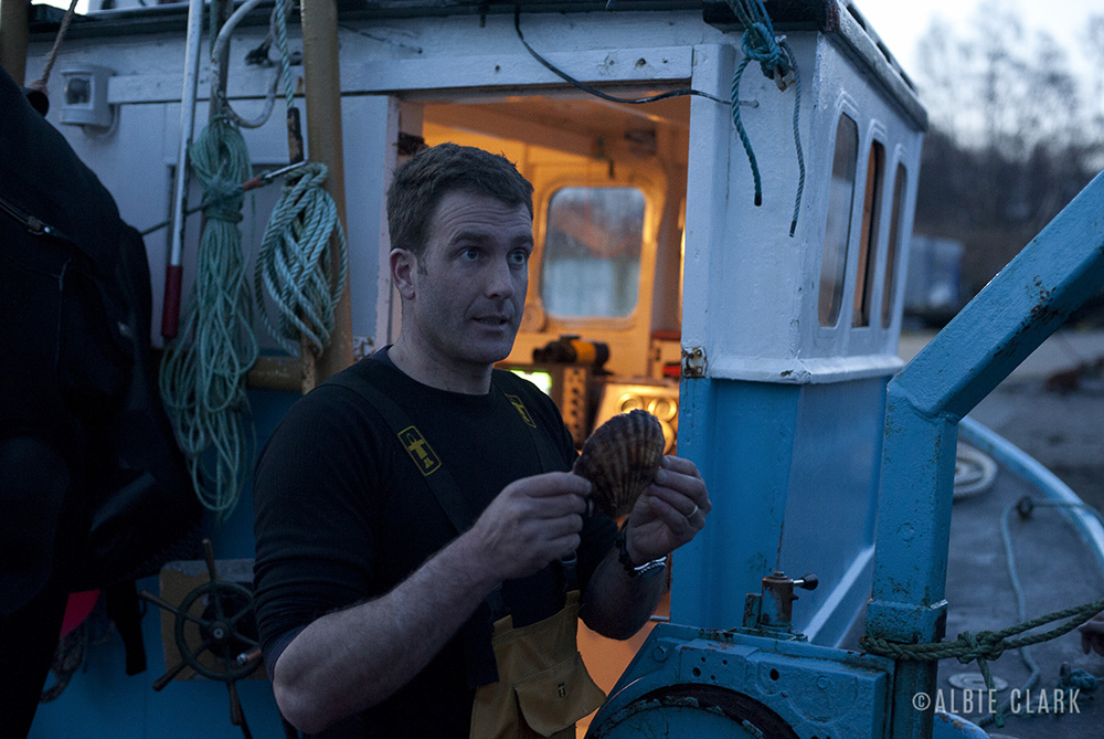 Guy Grieve dives every single day to hand pick his scallops