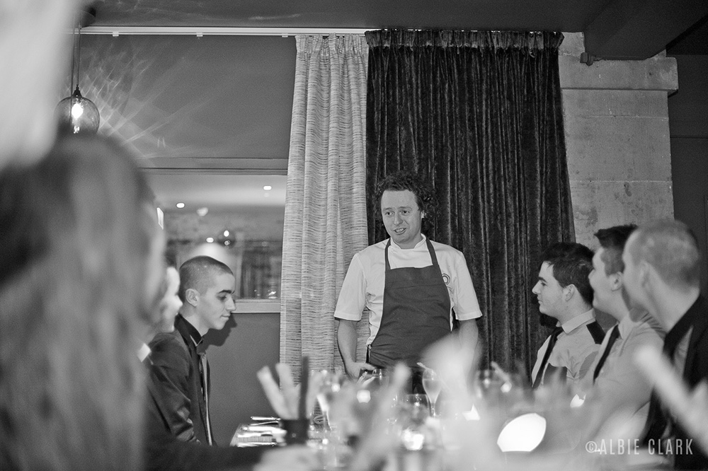Chef Tom Kitchin welcomes the Budding Chefs, in French bien sur!