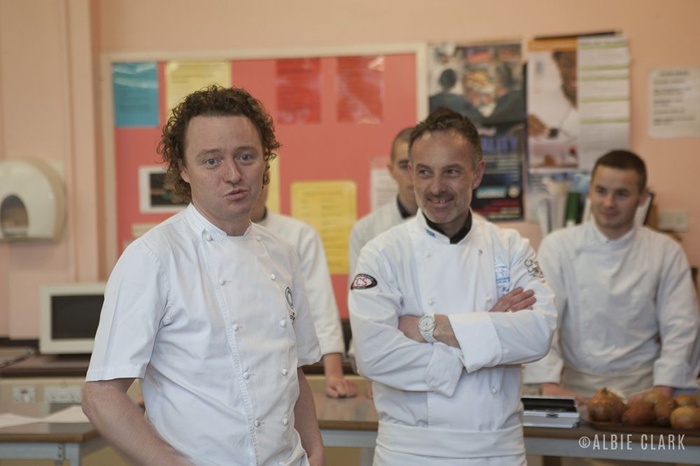 Tom Kitchin and Fabrice le Bret introduce the herb-encrusted lamb recipe