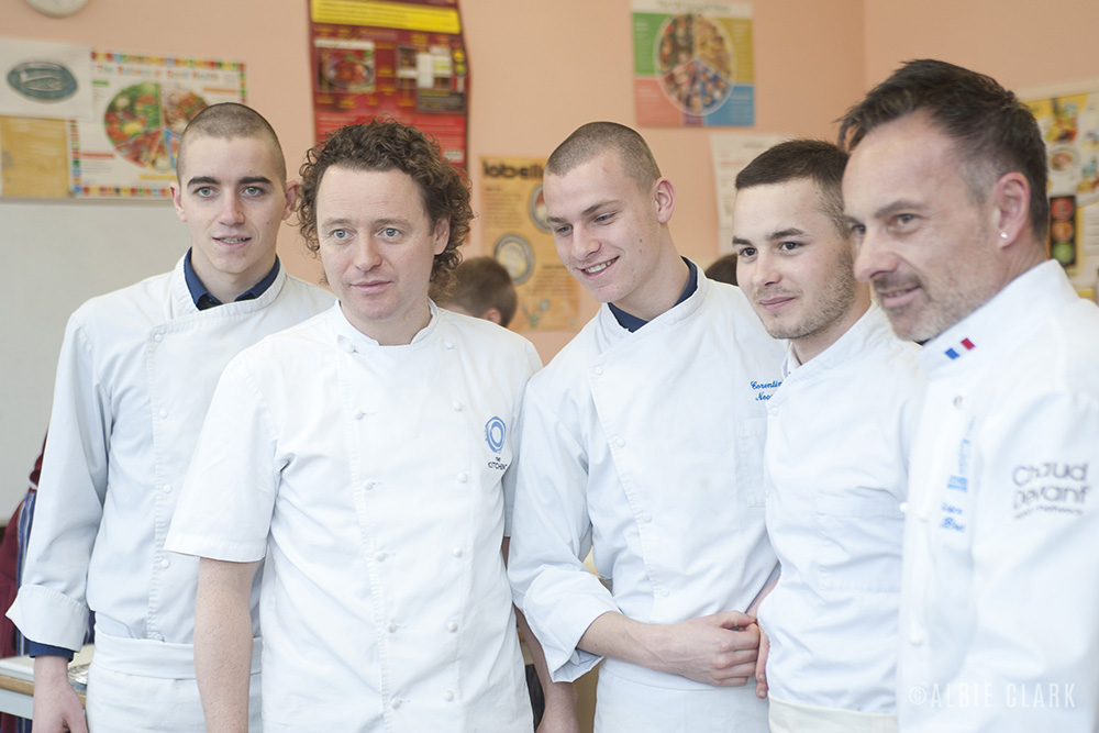 The Buddings Chefs and Chef Tom Kitchin host a cooking workshop with S3 pupils