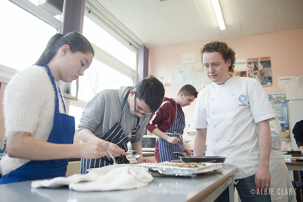 Tom Kitchin supervises the S3 pupils