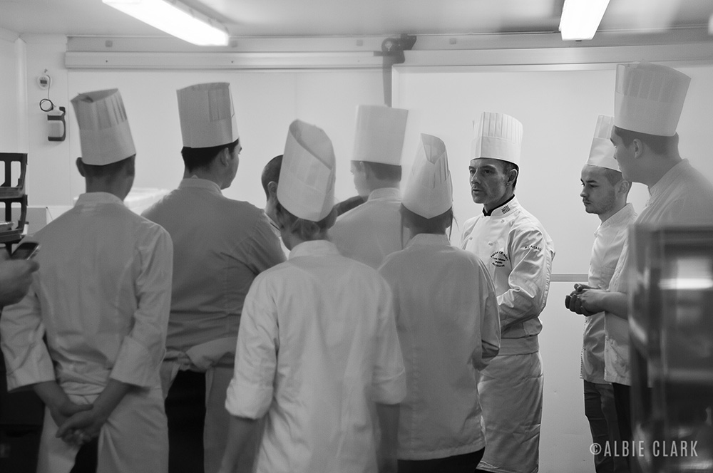 The Budding Chefs brigade getting ready to start the Pop-up prep