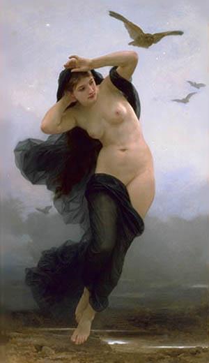 """Bouguereau, """"La Nuit"""""""