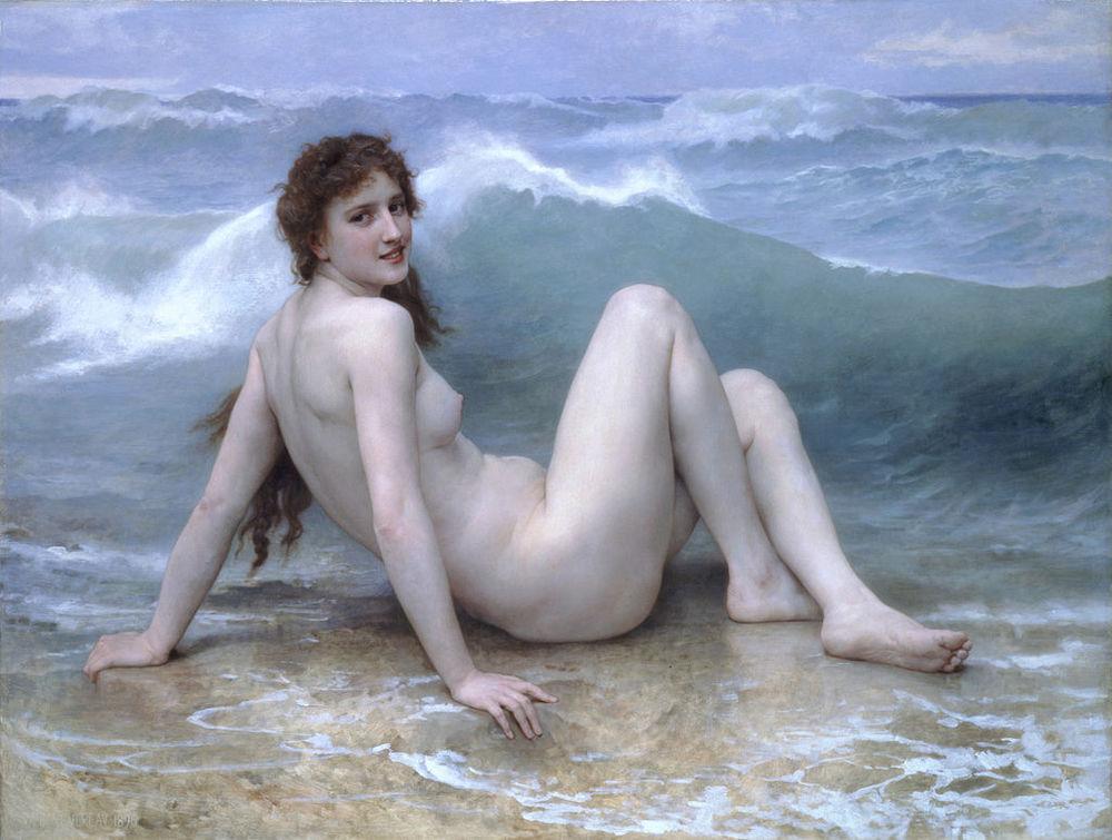 """Bouguereau, """"The Wave"""""""