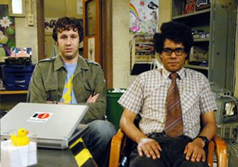 "Roy and Moss of the ""IT Crowd"""