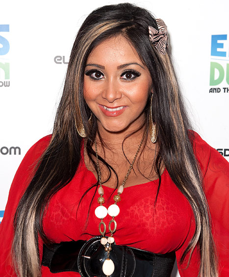 "Nicole ""Snooki"" Polizzi, star of MTV's reality TV show,  Jersey Shore"