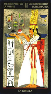 High Priestess in the Nefertari Deck