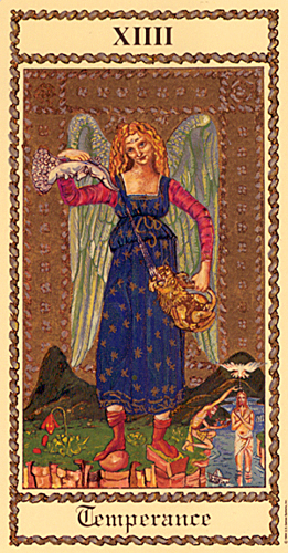 Temperance in the Medieval Scapini Tarot