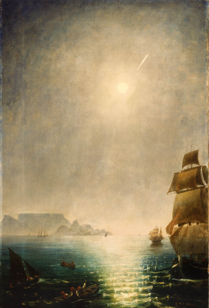 Daylight View over Table Bay Showing the Great Comet of 1843,  by Charles Piazzi Smith