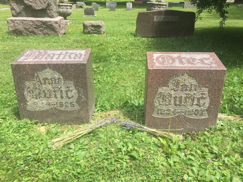 July: Visiting the graves of my ancestors in Manitowoc, Wisconsin