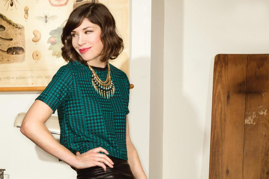 CARRIE BROWNSTEIN then, now, and forever. When I was in my thirties, many of the Riot Grrrl heroines of my youth evolved into multi-faceted creatrixes. For years I watched Brownstein shred on guitar in Sleater-Kinney, and now a lot more people know her as part of the comic team behind  Portlandia . And I hear she has even more amazing projects in the works …