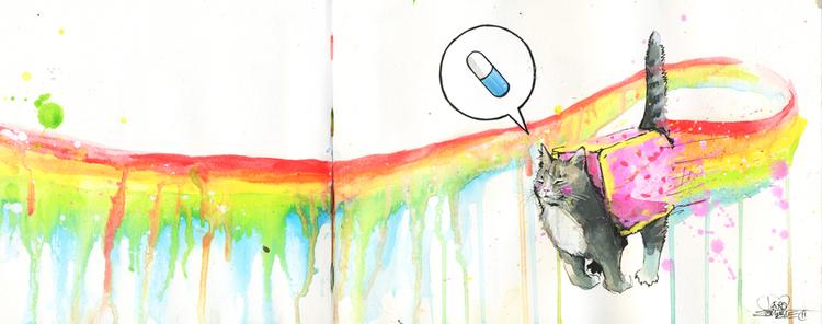 Aberration démentielle du chat aliéné [C - Yûna] Nyan-cat
