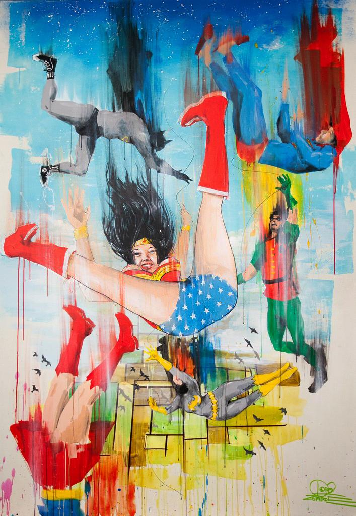 Falling Superheroes