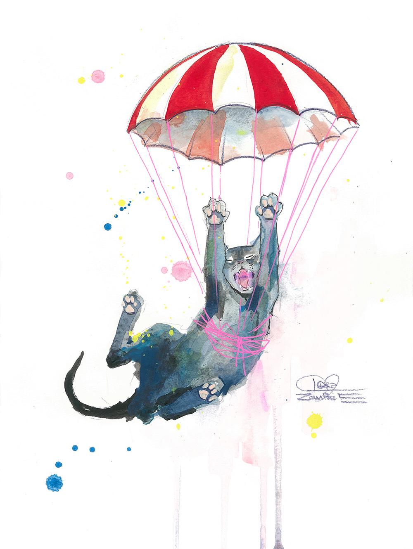 Parachute Cat