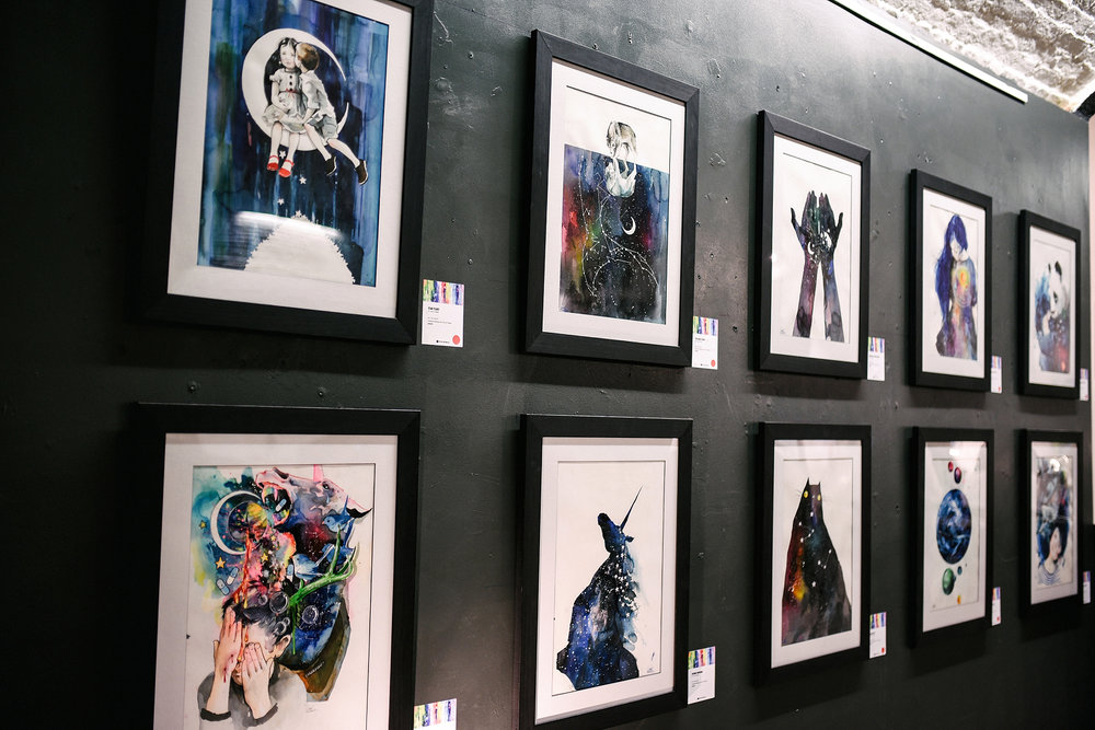 For those of you that weren't able to attend, the remaining pieces from the show are now available to view and purchase at  EyesOnWalls.com .