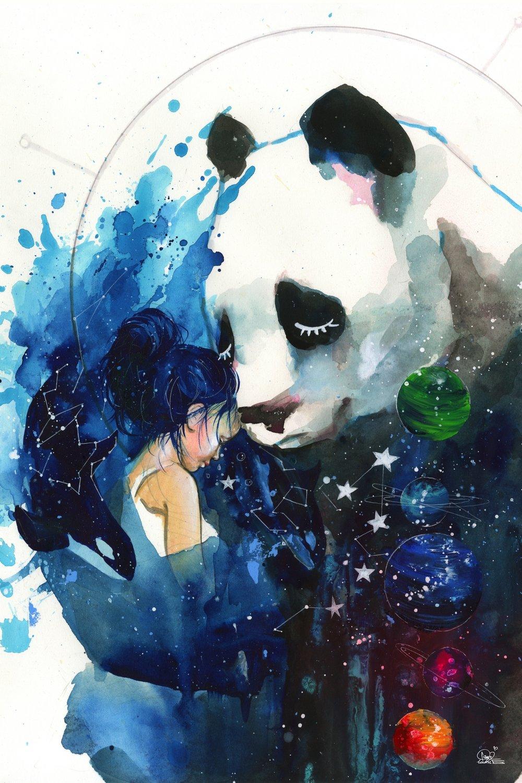 Panda Hugs From Universe