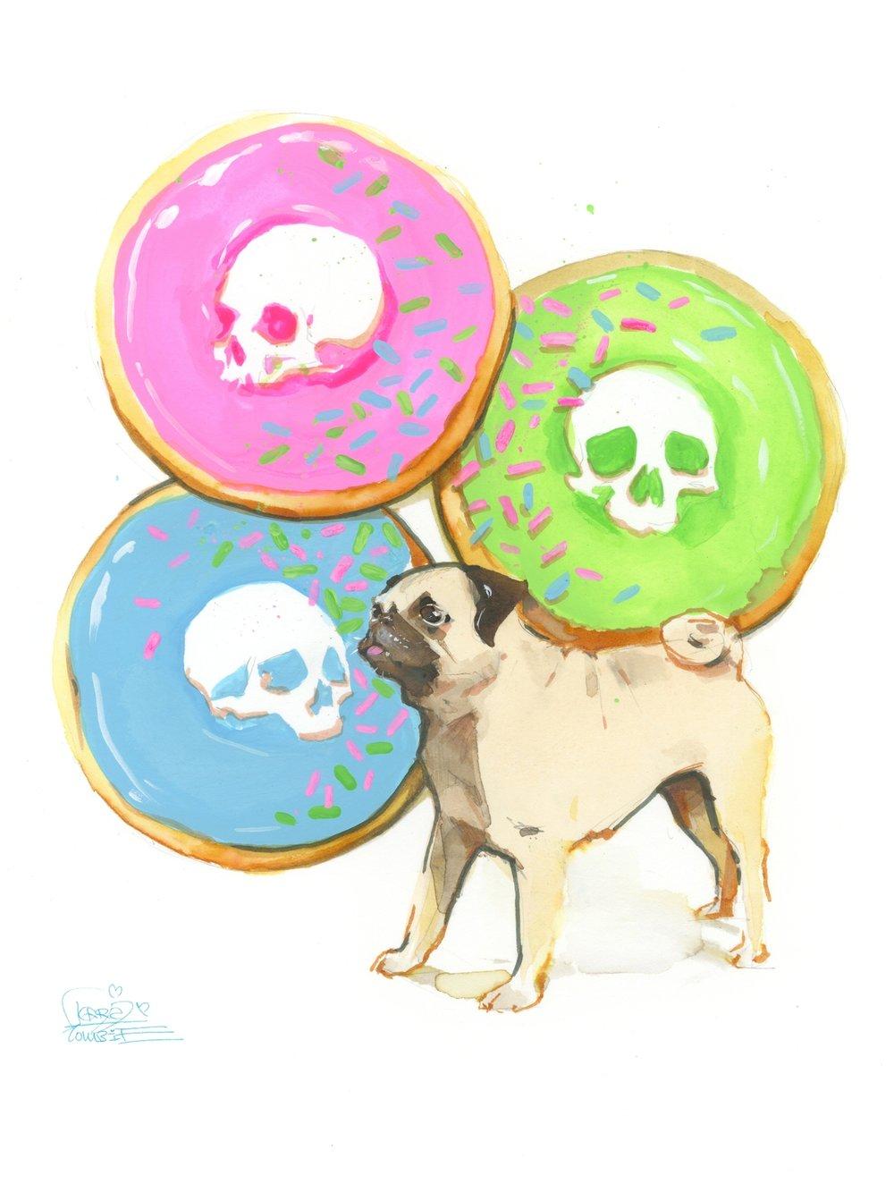 Donuts Pug