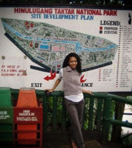 At Hinulugang Taktak National Park, Philippines