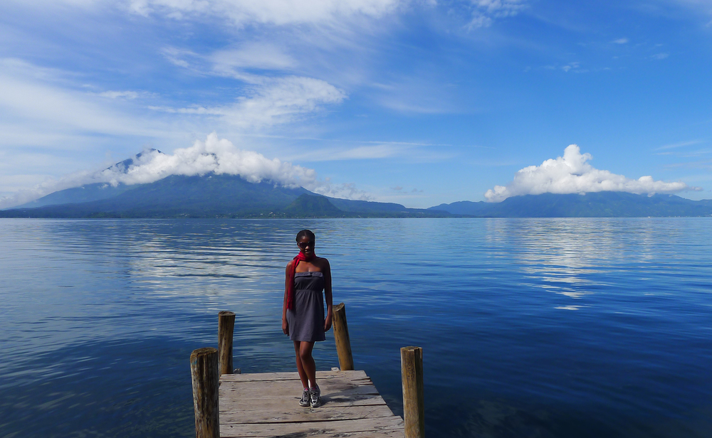Soaking up nature's splendor. Lago de Atitlan, Guatemala