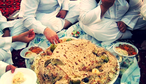 Hands are preferred in this Arab meal among friends.