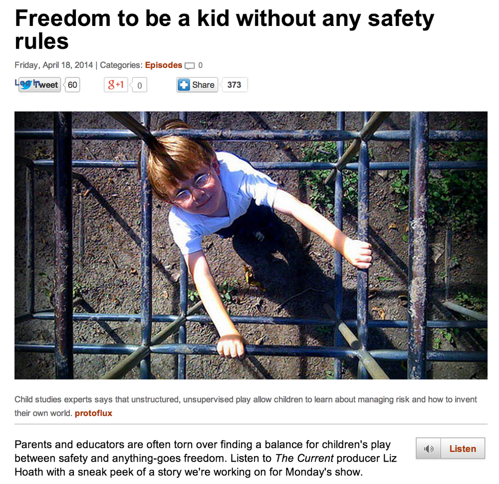 "Link not working?  Google: "" CBC Freedom to be a kid """
