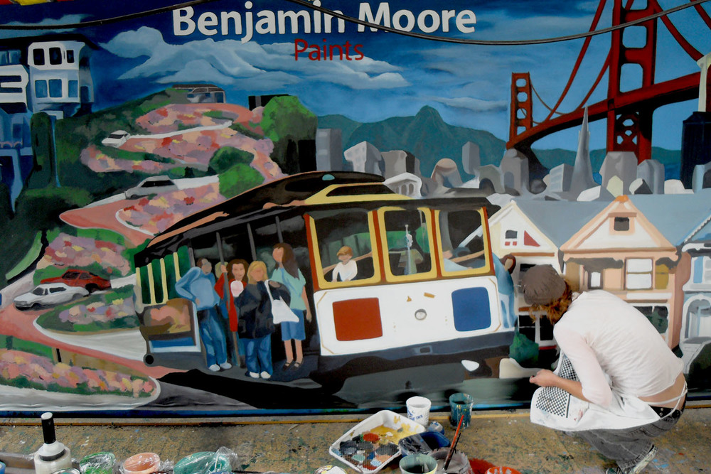 Benjamin Moore San Francisco Mural in action
