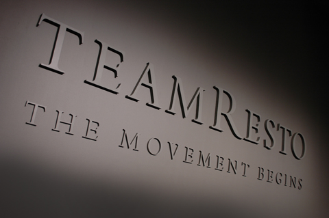 team restoration logo detail