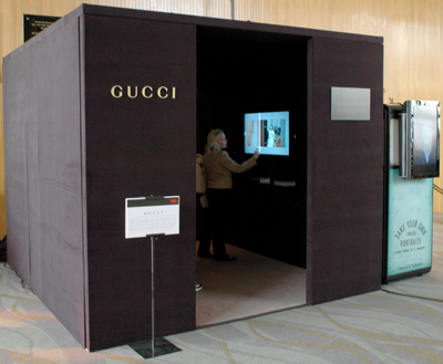 TED Gucci booth