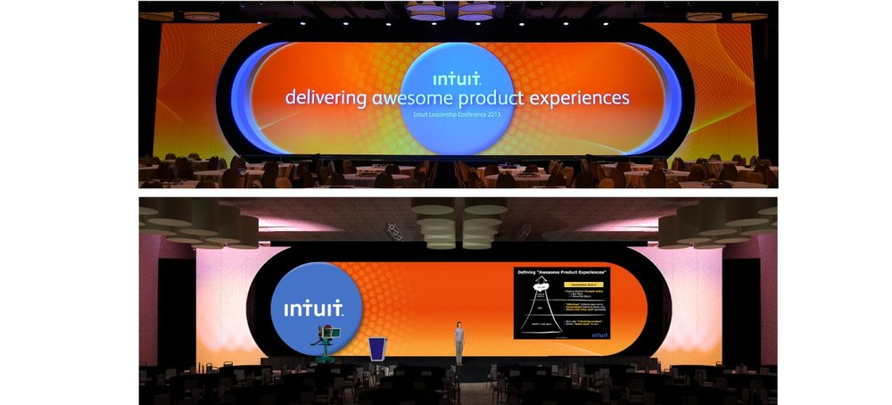 Intuit Leadership Conference Rendering side by side